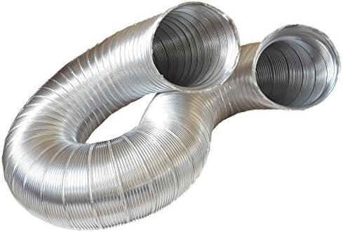 Canalizado Manguera, aluminio Tubo Flex, aluminio flexible Diámetro 125/127 mm, 3 m, por ejemplo para aire acondicionado, Secadora, campana: Amazon.es: Hogar