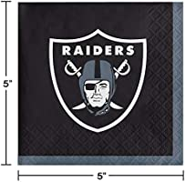 8 ~ Birthday Party Supplies Dinner Gray NFL OAKLAND RAIDERS LARGE PAPER PLATES