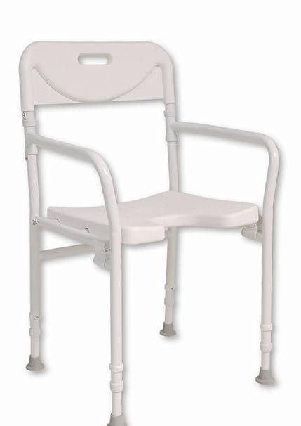 NRS Healthcare M00778 - Silla de ducha, plegable y ajustable