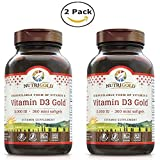 Nutrigold Vitamin D3 5000 IU,(GMO-free, Preservative-free, Soy-free, USP Grade Natural Vitamin D in Organic Olive Oil) – Pack of 2 (360 each, 720 total) For Sale