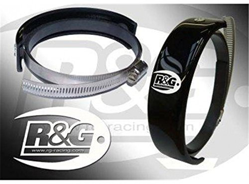 R/&G Racing Exhaust Slider Oval//Round 5.5 to 6.5 Cans EP0009BK