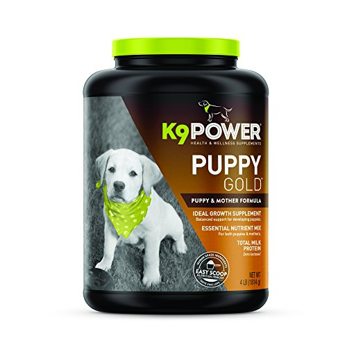 Milk Protein Supplement (K9 Power — Puppy Gold — Growing Puppy Nutritional Formula – 4lb)