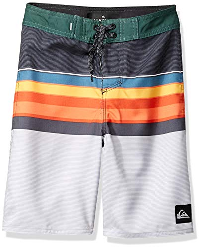 Quiksilver Boys' Big Everyday SWELL Vision Youth 18 Boardshort Swim Trunk, Ebony, 23/10S
