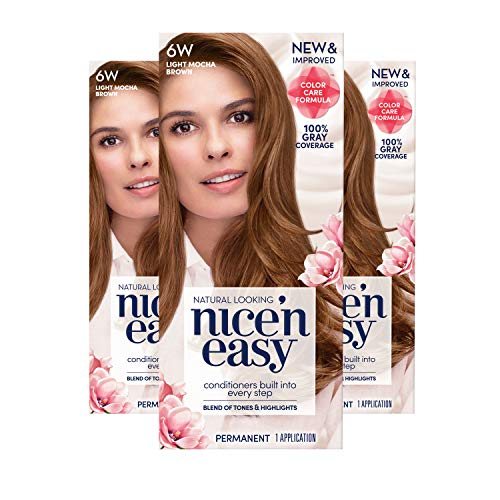 (Clairol Nice'N Easy Crème 6W Light Mocha Brown (3 Kits) (Packaging May Vary))