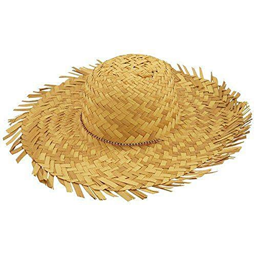 Hi Fashionz Mens Womens Cowboy Clown Topper Hats Unisex Straw Gangster Topper Beret Hats (Straw Beachcomber Hat) One Size -