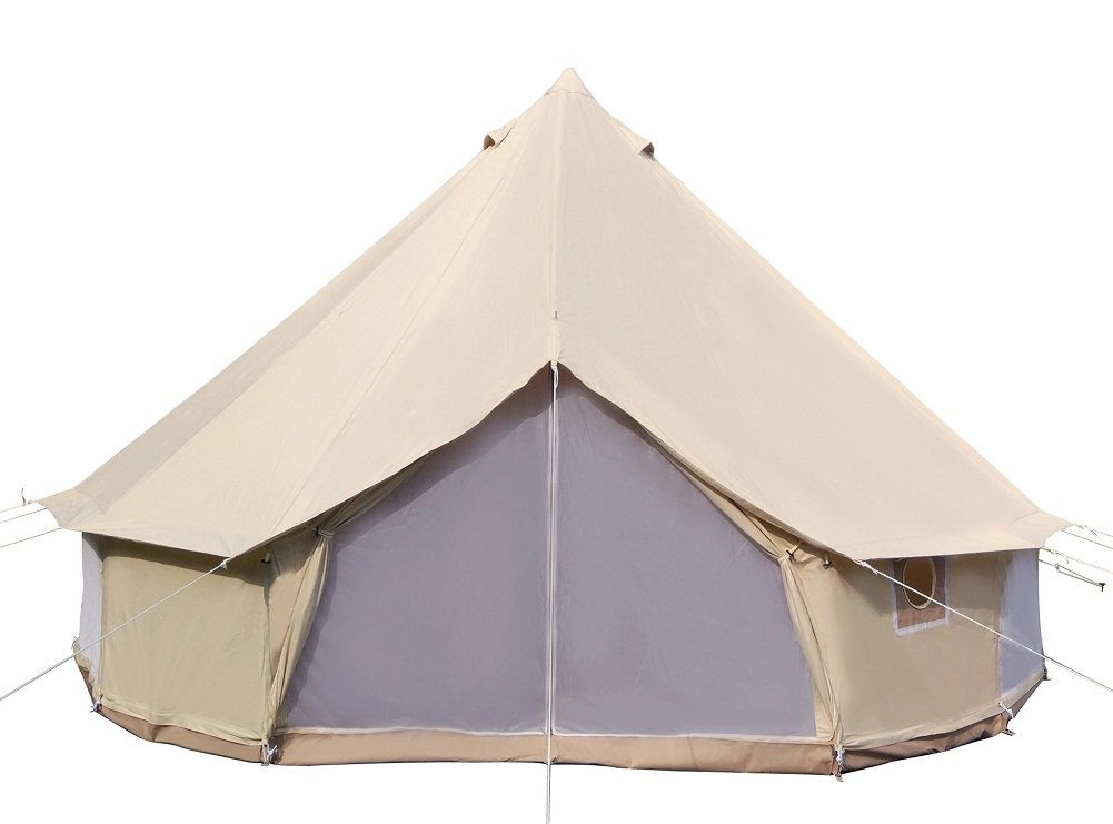 Dream House Diameter 5m Big 4 Season Canvas Cabin Waterproofing Camping Tents with Stove Jack by Dream House