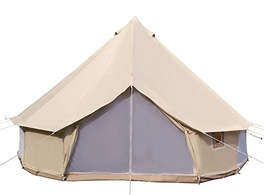 Amazon.com  Dream House Luxury Outdoor Waterproof Four Season Family C&ing and Winter Gl&ing Cotton Canvas Yurt Bell Tent with Mosquito Screen Door and ...  sc 1 st  Amazon.com & Amazon.com : Dream House Luxury Outdoor Waterproof Four Season ...