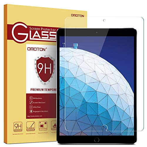 OMOTON Screen Protector for iPad Air 3 10.5 inch 2019 / iPad Pro 10.5 inch - Tempered Glass/Apple Pencil Compatible/Scratch Resistant (Ipod 5 Privacy Screen Protector)