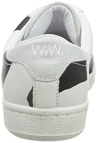 Wood Wood BO Shoe Unisex Erwachsene Low Mehrfarbig Top Ripstripe AfrOAqwdx6