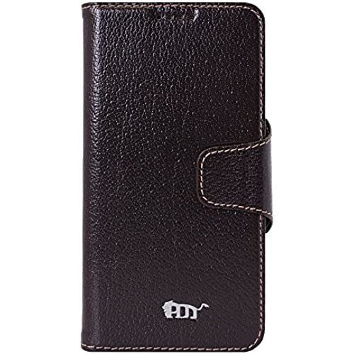 PDNcase Galaxy S7 Edge Case Genuine Leather Wallet Style Phone Cover Compatible for Samsung Galaxy S7 Edge Color Sales