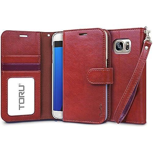 Galaxy S7 Edge Case, TORU [Prestizio Wallet] S7 Edge Wallet Case with [CARD SLOT][ID HOLDER][KICKSTAND][WRIST Sales