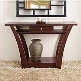 Metro Shop Furniture of America Magnolia Modern 1-Drawer Dark Walnut Sofa Table