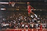 Michael Jordan Famous Foul Line Dunk Vintage Sports Poster Print