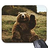 Smity 106 Mousepad Waving Bear Mouse Mat for Office/Gaming 9 x 7.5in