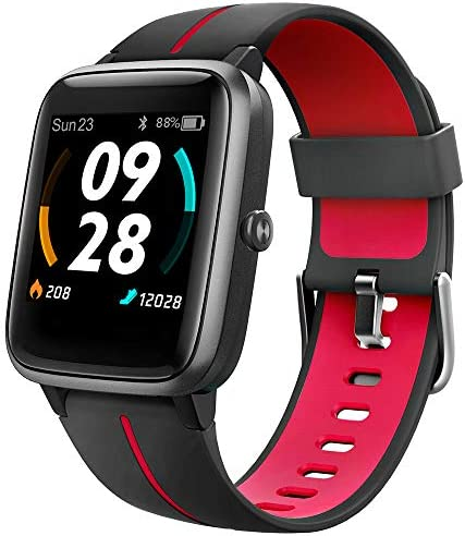"UMIDIGI GPS Smart Watch, Activity Fitness Tracker with Heart Rate Monitor, 1.3"" Touch Screen Pedometer Smartwatch for Mens Womens, 5ATM Waterproof Step Counter Compatible with iPhone, Samsung, Android"