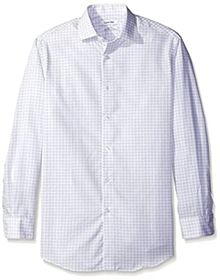 Calvin Klein Men's Regular Fit Non Iron Print Shirt
