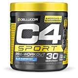 Cellucor C4 Sport Concentrated Energy Drink and Pre Workout Powder, Pre Workout Supplement for Men & Women, Blue Raspberry, 30 Servings - Informed Choice certified