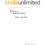 Style in Technical Math Solution Manual