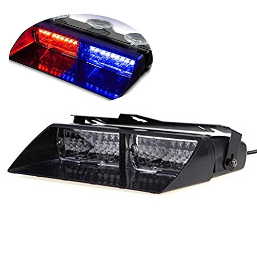 PESIC Red Blue High Intensity 16 led Emergency Dash Warning Strobe Flash Light