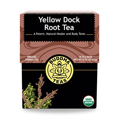Organic Yellow Dock Root Tea - Kosher, Caffeine-Free, GMO-Free - 18 Bleach-Free Tea Bags