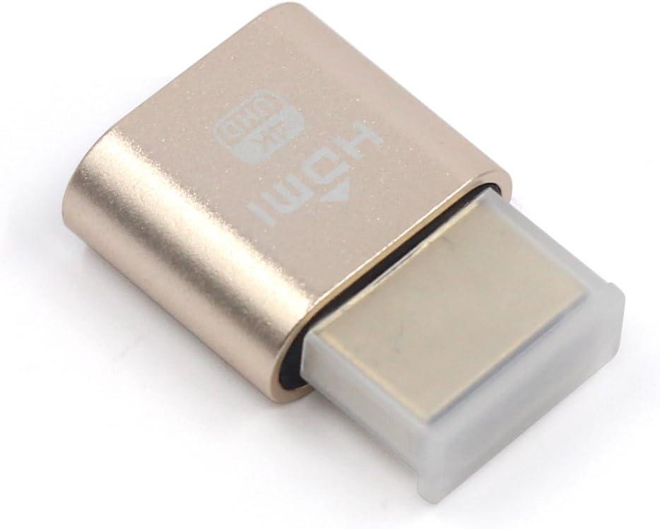 WBTUO Adaptador de pantalla VGA Virtual Display Adaptador HDMI DDC EDID Dummy Plug sin cabeza Ghost Display Emulador Placa de bloqueo 1920x1080 Nueva ...