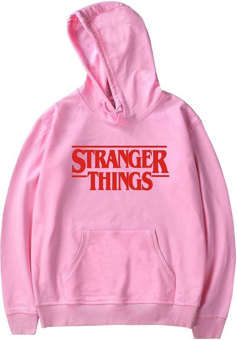 EMILYLE Homme Sweat /à Capuche Stranger Things Pull Sweat-Shirt Imprim/é Lettres Rouges Geek Manches Longues