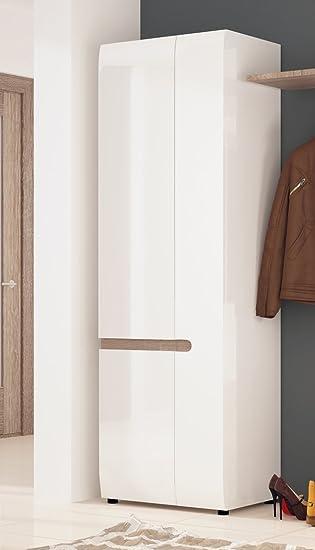 Kleiderschrank weiß hochglanz 2 türig  Kleiderschrank Wohnzimmerschrank 16679 2-türig weiß Hochglanz ...