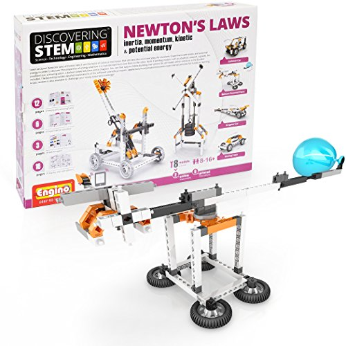 Engino Discovering Stem Newtons Laws Inertia  Momentum  Kinetic   Potential Energy Construction Kit