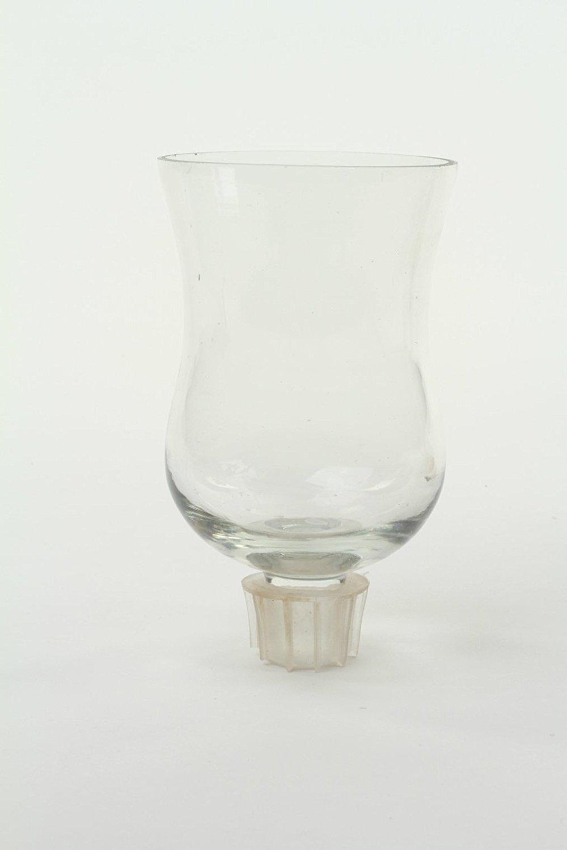Koyal Wholesale Candelabra Hurricane Glass Shades, Bulk Set of 6 Peg Votive Holders (Clear, 5-Inch)