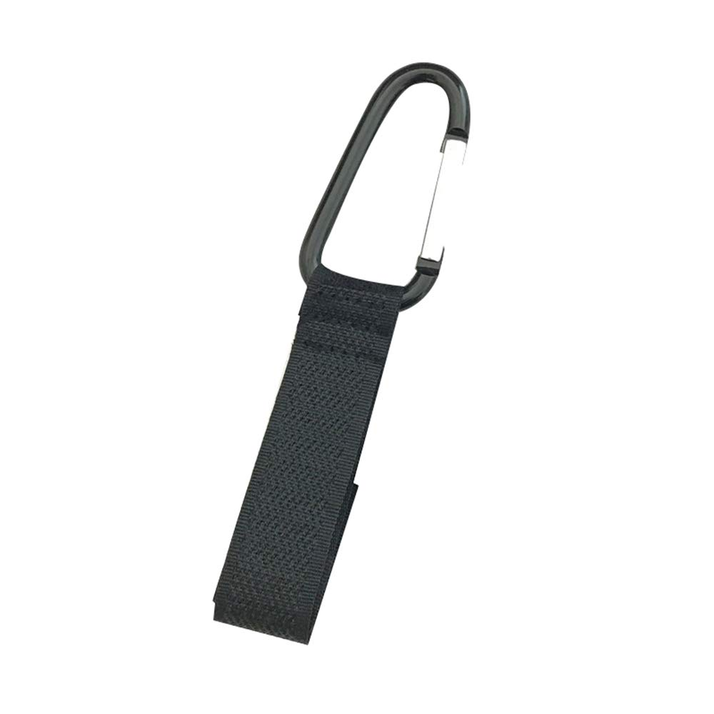 ZHONGYU 2pc Universal Pram Buggy Metal Clip Hanger Portable Black Baby Stroller Hook with Non-Slip Velcro Strap Practical Pushchair Hanger for Mommy Bag