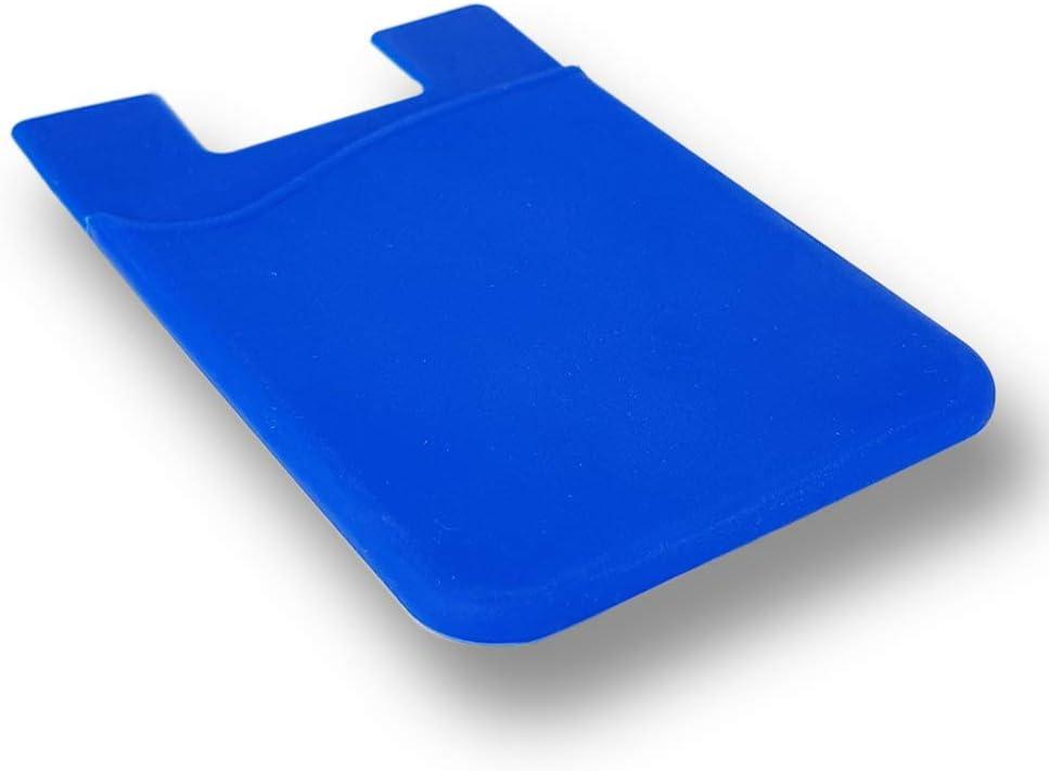 Gris KSTORE365 Tarjetero Porta Tarjetas Adhesivo para M/óviles De Silicona