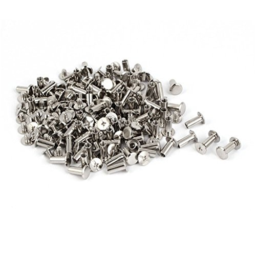 Ucland Binding Screws Purse Belts Photo Albums M5 x 12mm Metal Binding Chicago Screws Posts 100 Pcs