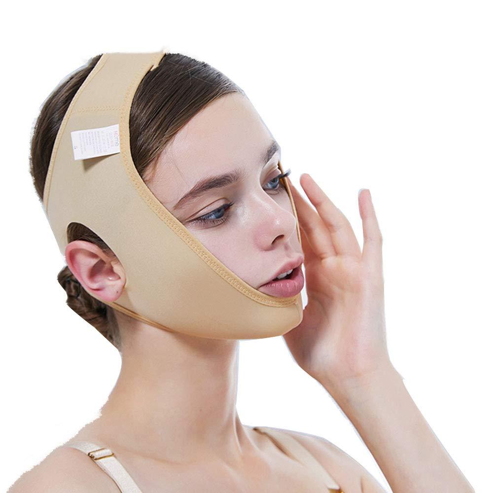 フェイスリフトマスク、薄型ダブルチンアーティファクト/vフェイスビームフェイス/あご手術セット/フェイスマスク(カラー),XXL B07QF7BJQF  XX-Large