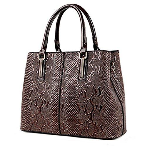 PU fourre sac luxe main dames sacs sac tout printemps Brown à cuir à dames Light en bandoulière femmes de serpent sacs designer rxUqrT