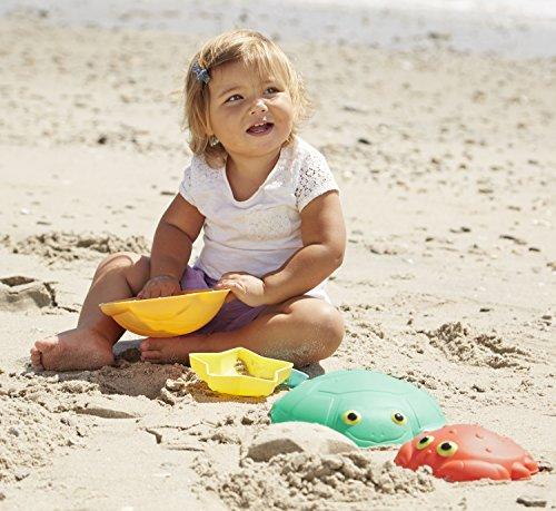 Melissa & Doug Sunny Patch Seaside Sidekicks Sand-Molding Set With 5 Animal Shapes