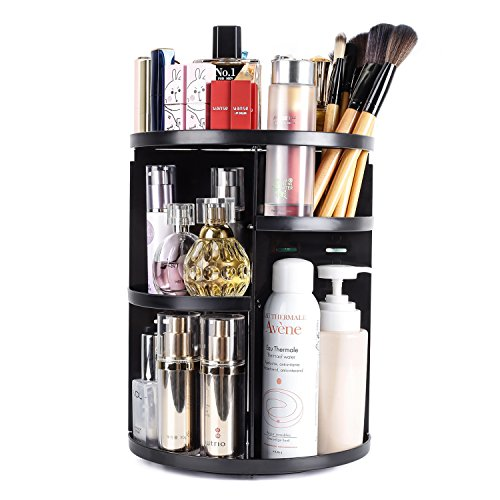 BSTO 360 Rotating Makeup Organizer Countertop, DIY Detachabl