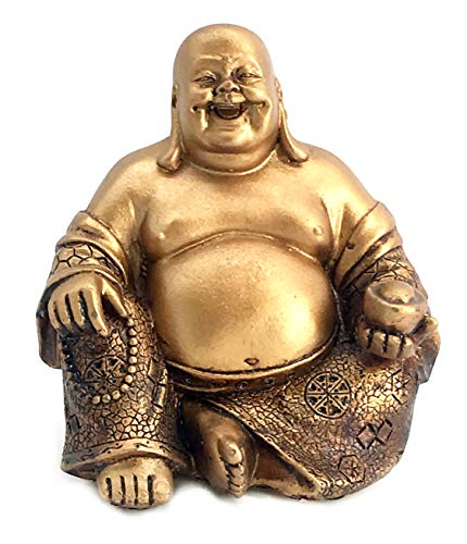 - Bellaa 21770 A Golden Happy Buddha(Laughing Buddha) Feng Shui for Money and Wealths 6