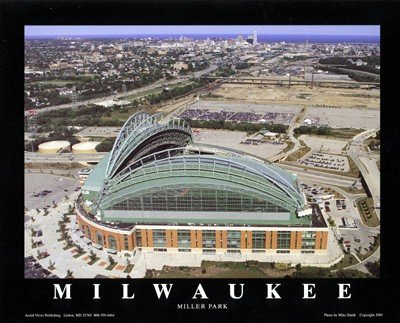 Miller Fine Art Print - Milwaukee, Wisconsin - Brewers at Miller Park by Mike Smith - 22 x 28 inches - Fine Art Print / Poster