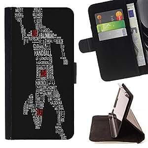- HandBall - - Monedero PU titular de la tarjeta de cr?dito de cuero cubierta de la caja de la bolsa FOR Apple Iphone 6 PLUS 5.5 Retro Candy