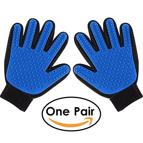 RunAng Pet Grooming Glove (1 Pair) – Gentle Deshedding Brush Glove – Efficient Pet Hair Remover Mitt – Massage Tool with…