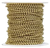 JANDORF SPECIALTY HARD 92539 SOLID BRASS BEAD CHAIN 100' #6