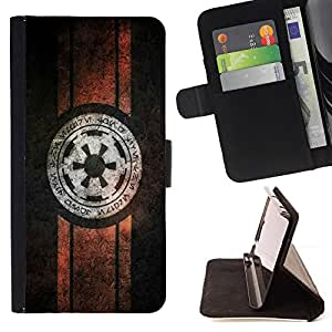 For Samsung Galaxy Note 4 IV Star War Vintage Beautiful Print Wallet Leather Case Cover With Credit Card Slots And Stand Function