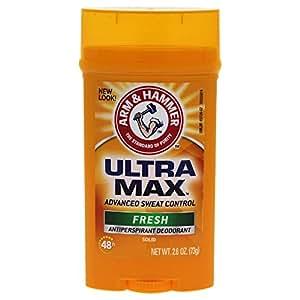 Arm & Hammer Ultra Max Invisible Solid Antiperspirant Deodorant, Fresh, 2.6 Oz