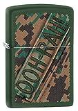 Zippo USMC Ooh Rah Camo Green Matte Pocket Lighter