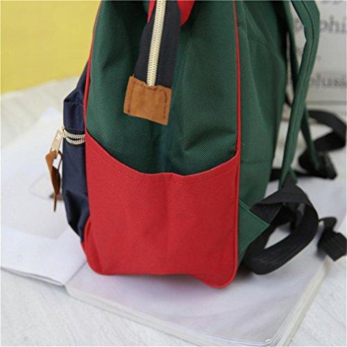 Rucksack, HUIHUI Leisure Solid Backpack Wasserdicht Reiserucksack Outdoor Wanderrucksacke jugendliche mädchen Rucksack Schultasche Doppelte Umhängetasche (A) A