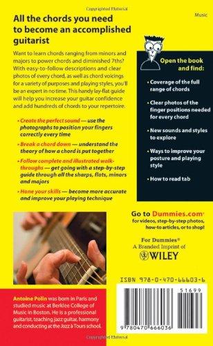 Guitar Chords for Dummies: Antoine Polin: 9780470666036: Amazon.com ...
