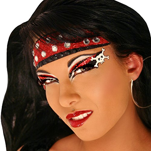 Xotic Eyes Hooked Glitter Professional Eye Make up Costume (Showgirl Makeup For Halloween)