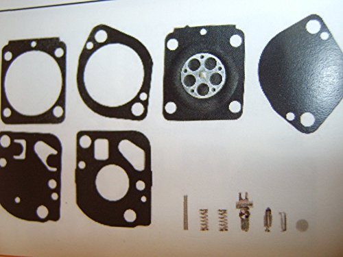 Overhaul Tools (Carburetor Rebuild Overhaul Kit For Zama RB-165. Complete Kit That is OK for 10%+ Ethanol In Fuel, Includes gaskets, diaphragm, welch plug, needle, and inlet lever.)