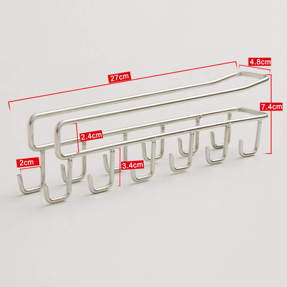 Shelf Storage Racks Shelf Baskets Kitchen Free Nail Creative Hanger Cupboard Wall Hanging Storage Rack ZHAOYONGLI (Size : 274.87.4cm) by ZHAOYONGLI-shounajia (Image #4)