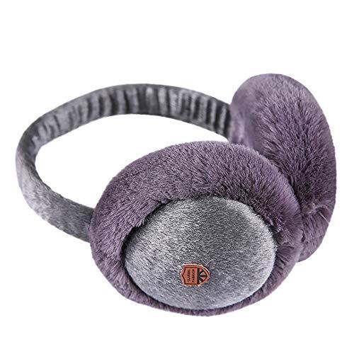 Muff Cozy Thinsulate (Women's Winter Warm Earmuffs Colorful Outdoor Plush Ear Warmers Fleece Sports Earlap (Dark Gray))